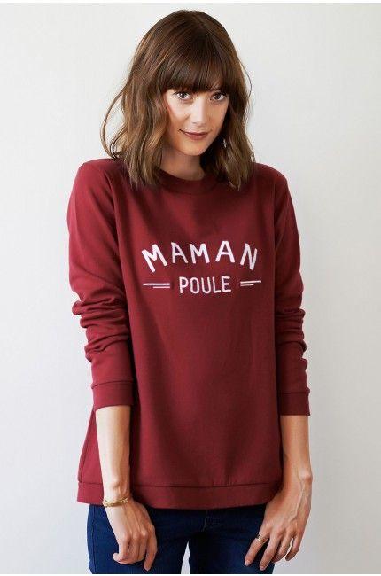 sweat-shirt-message-maman-poule-bordeaux-emoi