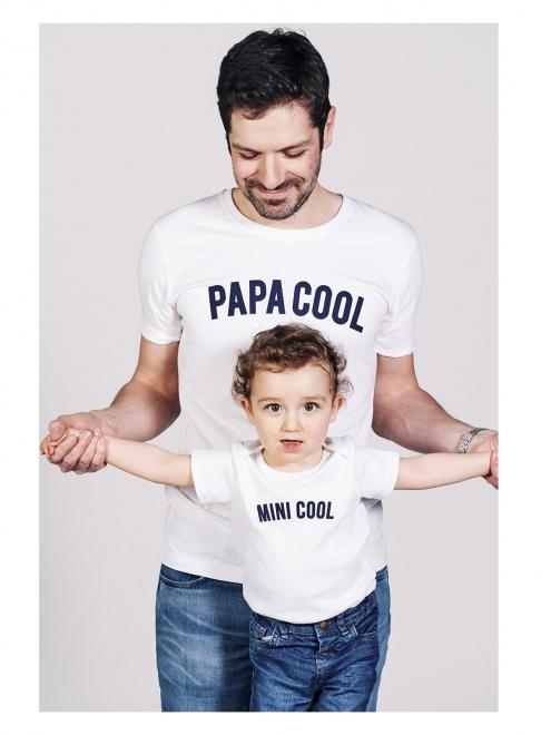 tee-shirt-blanc-message-papa-cool-mini-cool