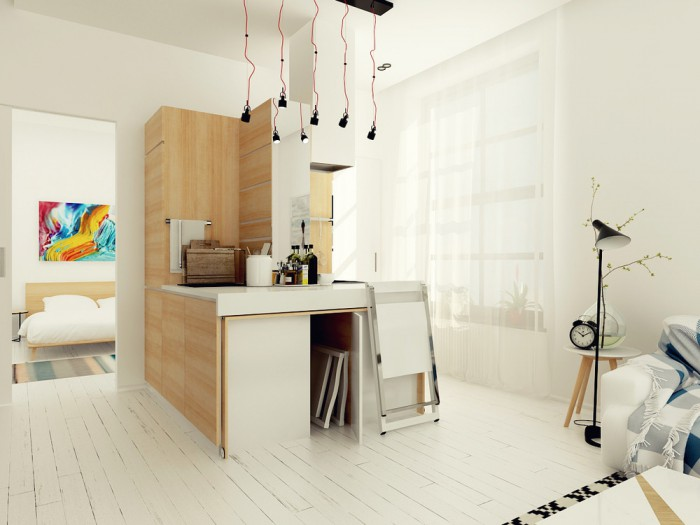 astuce d 39 am nagement dans un petit appartement. Black Bedroom Furniture Sets. Home Design Ideas