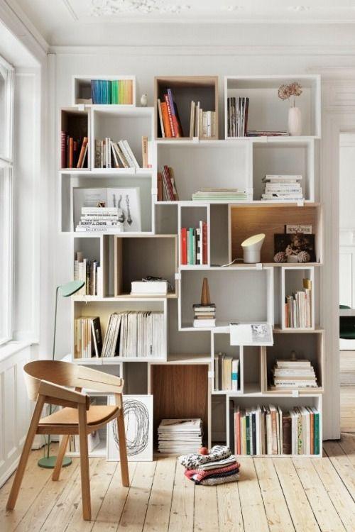 Créer une bibliothèque avec des cubes