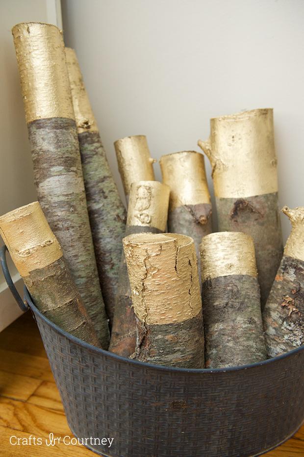 Déco avec un tronc d'arbre customisé