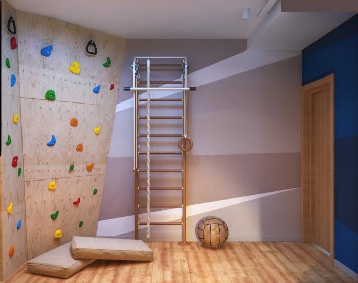 salle de jeux dans une chambre d 39 enfant. Black Bedroom Furniture Sets. Home Design Ideas
