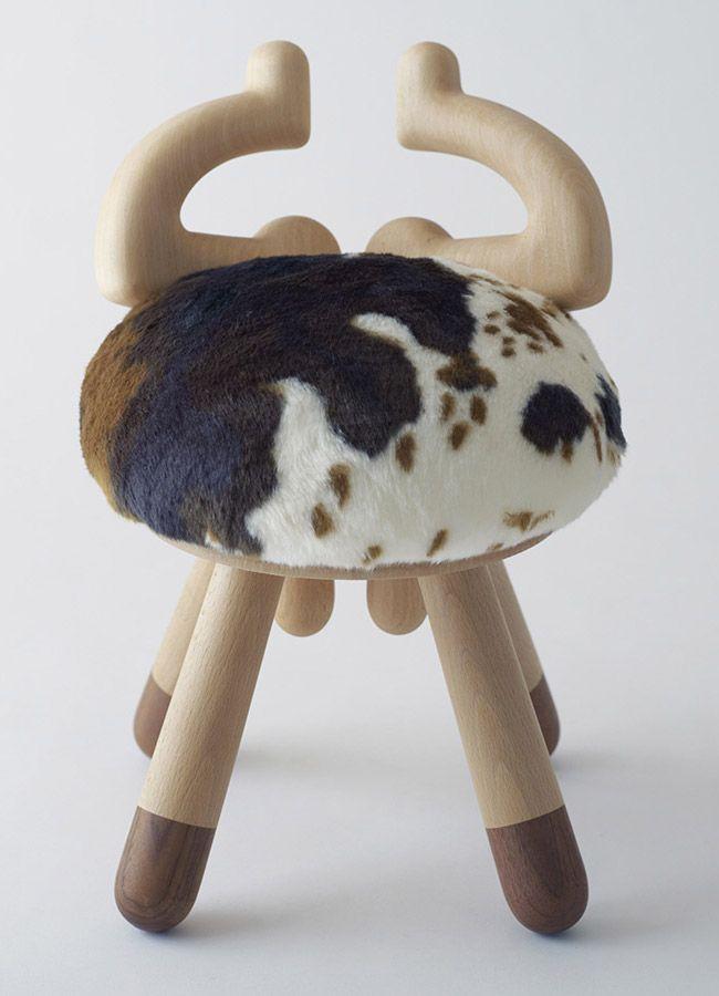 chaise-bois-deco-chambre-enfant-vache