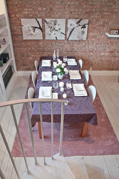 D co salle manger mur en briques for Deco mur salle a manger