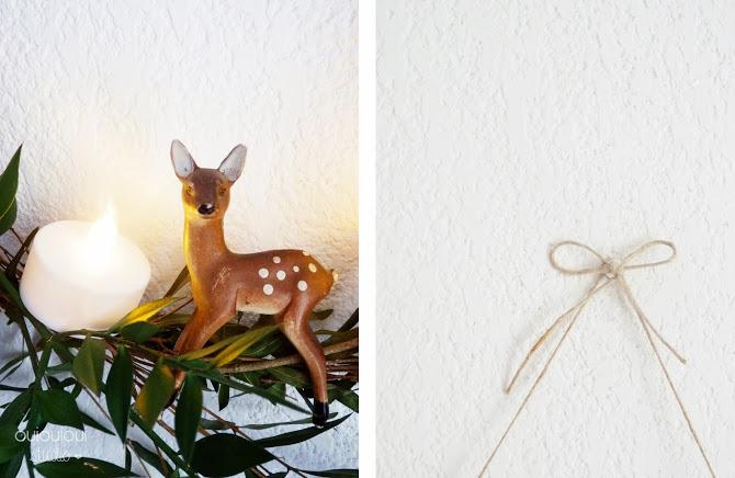 diy couronne de no l bambi. Black Bedroom Furniture Sets. Home Design Ideas