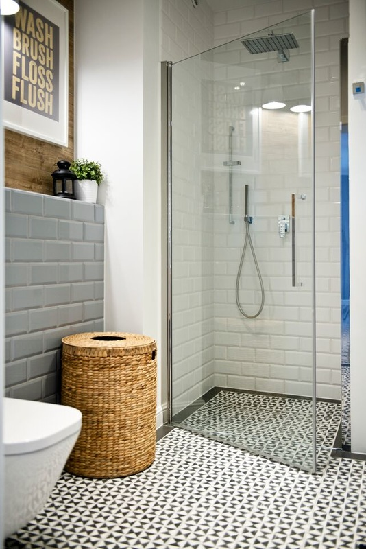 Salle de bain avec du carrelage m tro for Bathroom design 5m2