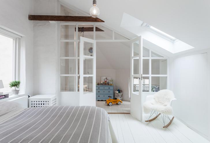 s paration avec une cloison vitr e dans une chambre. Black Bedroom Furniture Sets. Home Design Ideas