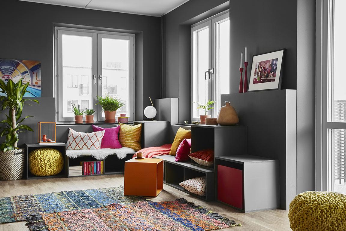 Canapé avec des modules cube