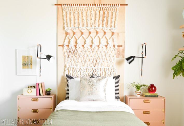 DIY tête de lit tissée