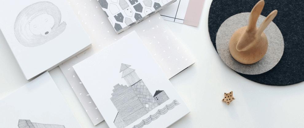 papeterie-cinq-grammes-grise-blanche-design-presse-papier-bois-lapin
