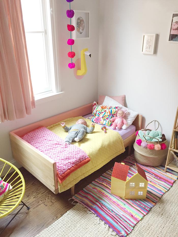 Chambre pour fille colorée