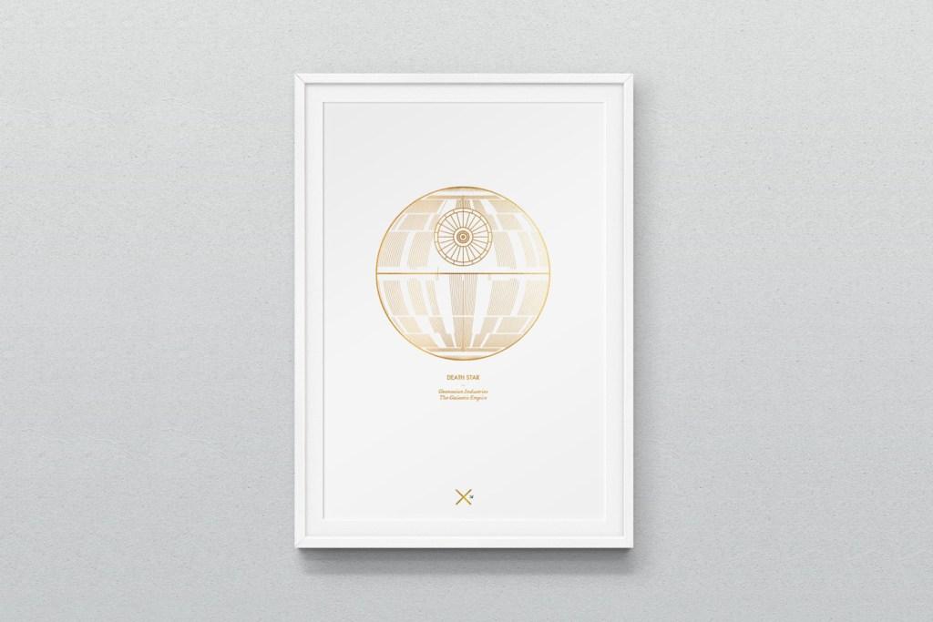 affiche-poster-design-minimalist-vaisseaux-star-wars