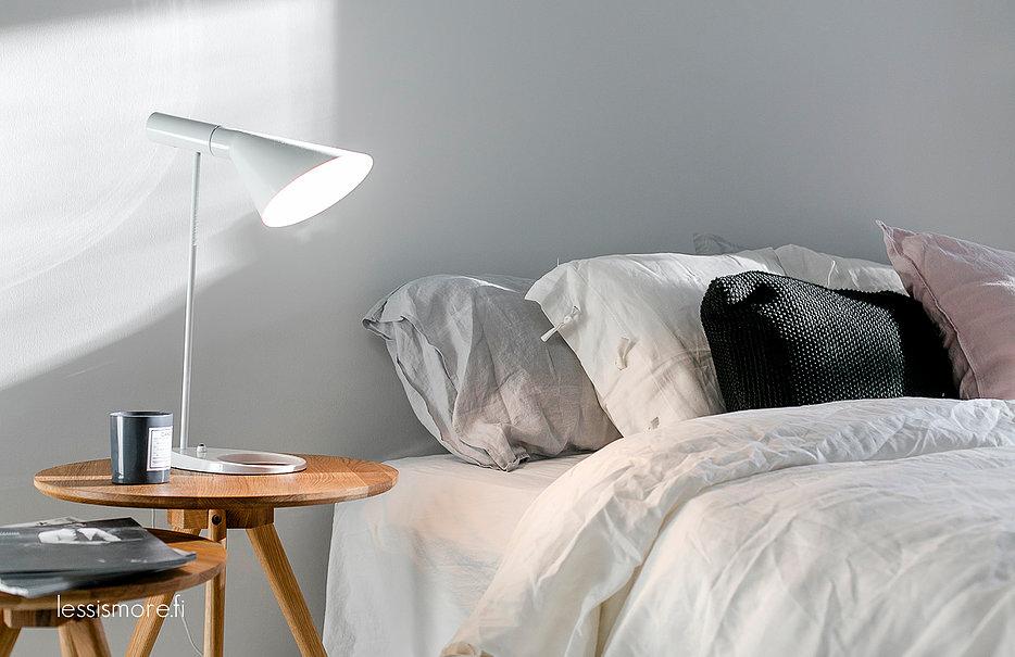 Chambre cosy blanche et pastel