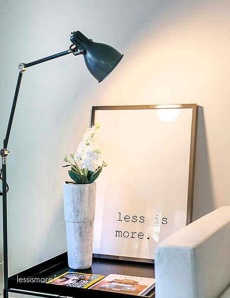 Déco avec une affiche minimaliste