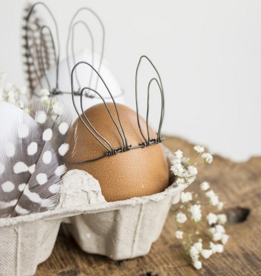 Décoration d'oeuf de Pâques en lapin
