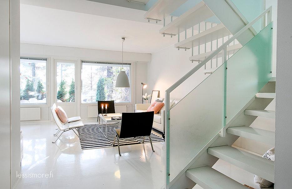 Garde corps d'escaliers en verre
