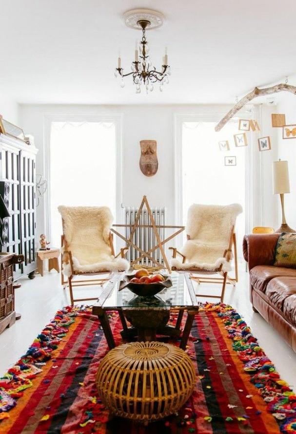 S lection d 39 int rieurs d 39 inspiration boh me for Salon berbere moderne