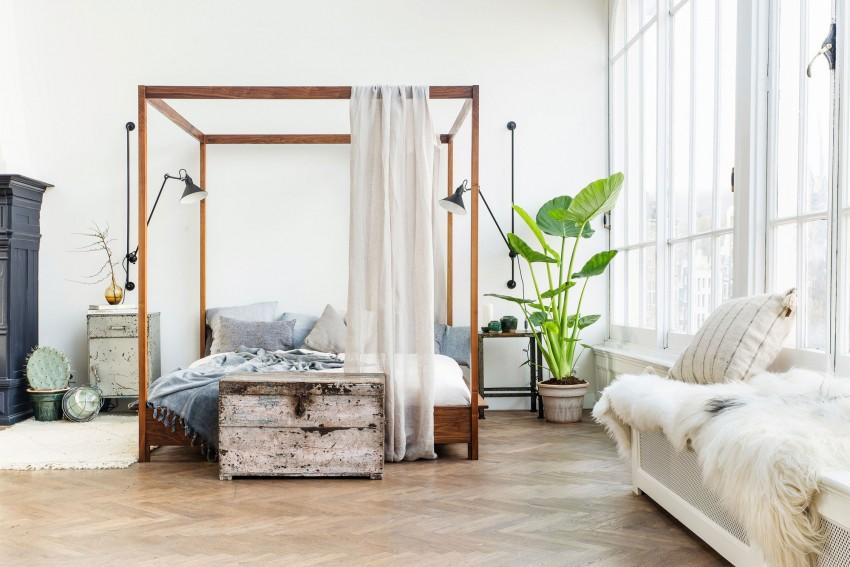 Loft lumineux familial parquet tapis cheminee verriere de for Coffre a bois cheminee