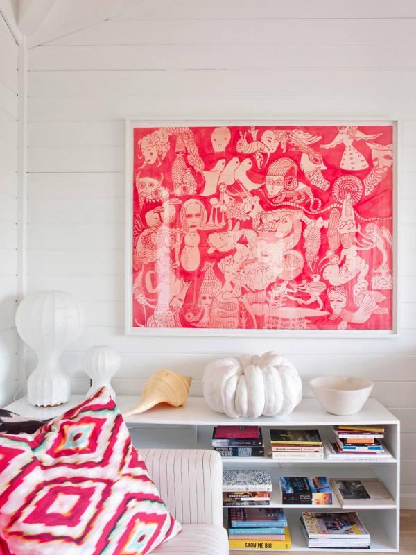 Déco avec un cadre rose