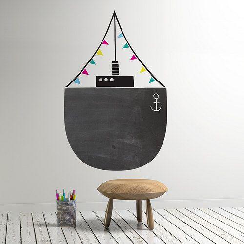 tableau noir et peinture ardoise dans une chambre d 39 enfant. Black Bedroom Furniture Sets. Home Design Ideas
