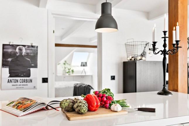 Suspension style industriel dans une cuisine