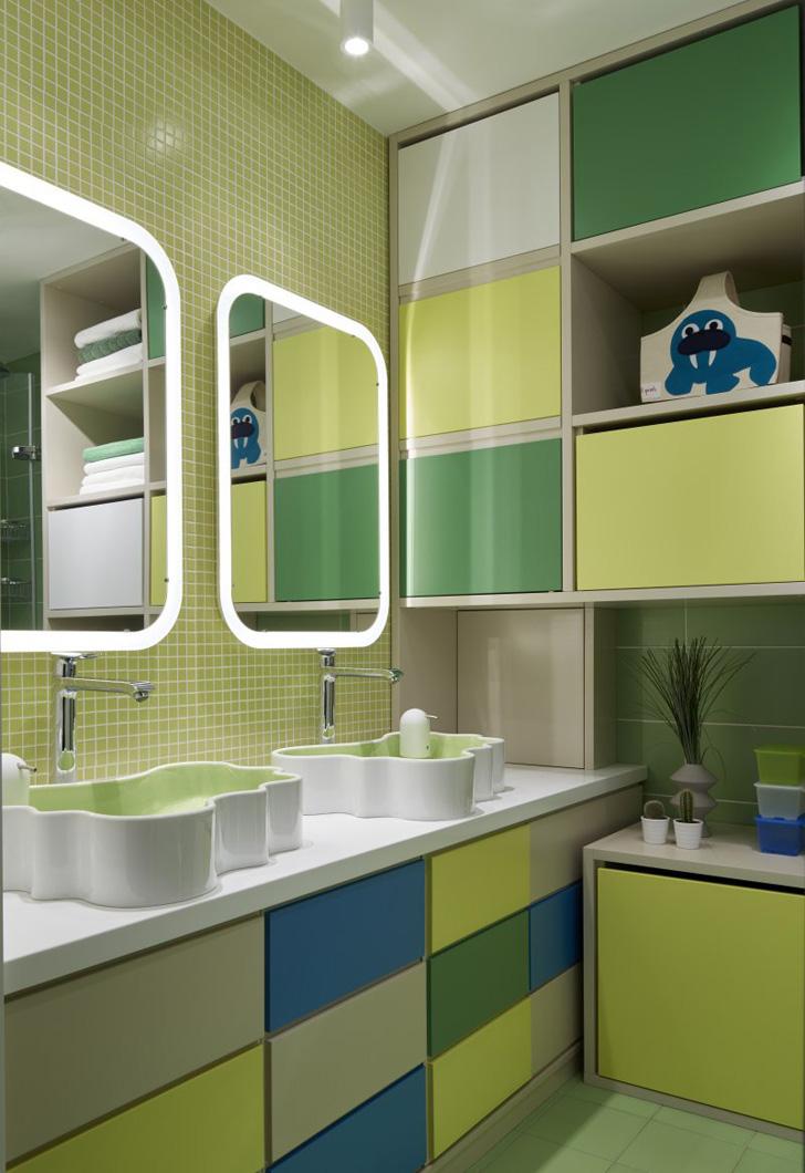 Salle de bain ludique pour enfant