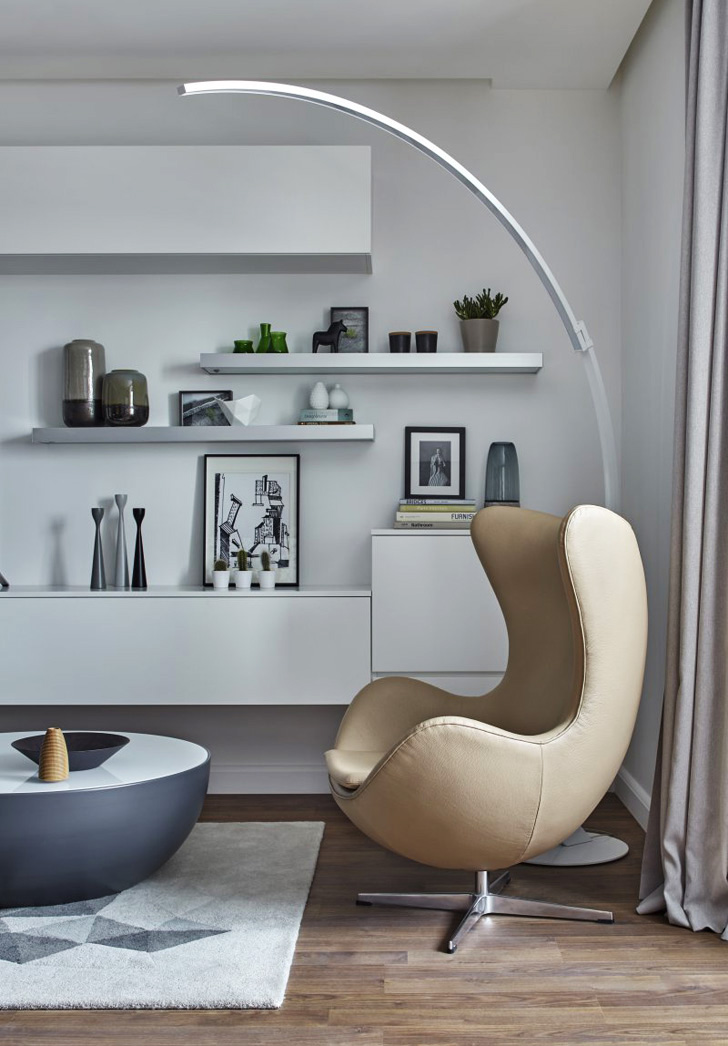 d coration en d grad s de gris. Black Bedroom Furniture Sets. Home Design Ideas