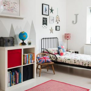 chambre pour gar on en rouge et noir. Black Bedroom Furniture Sets. Home Design Ideas