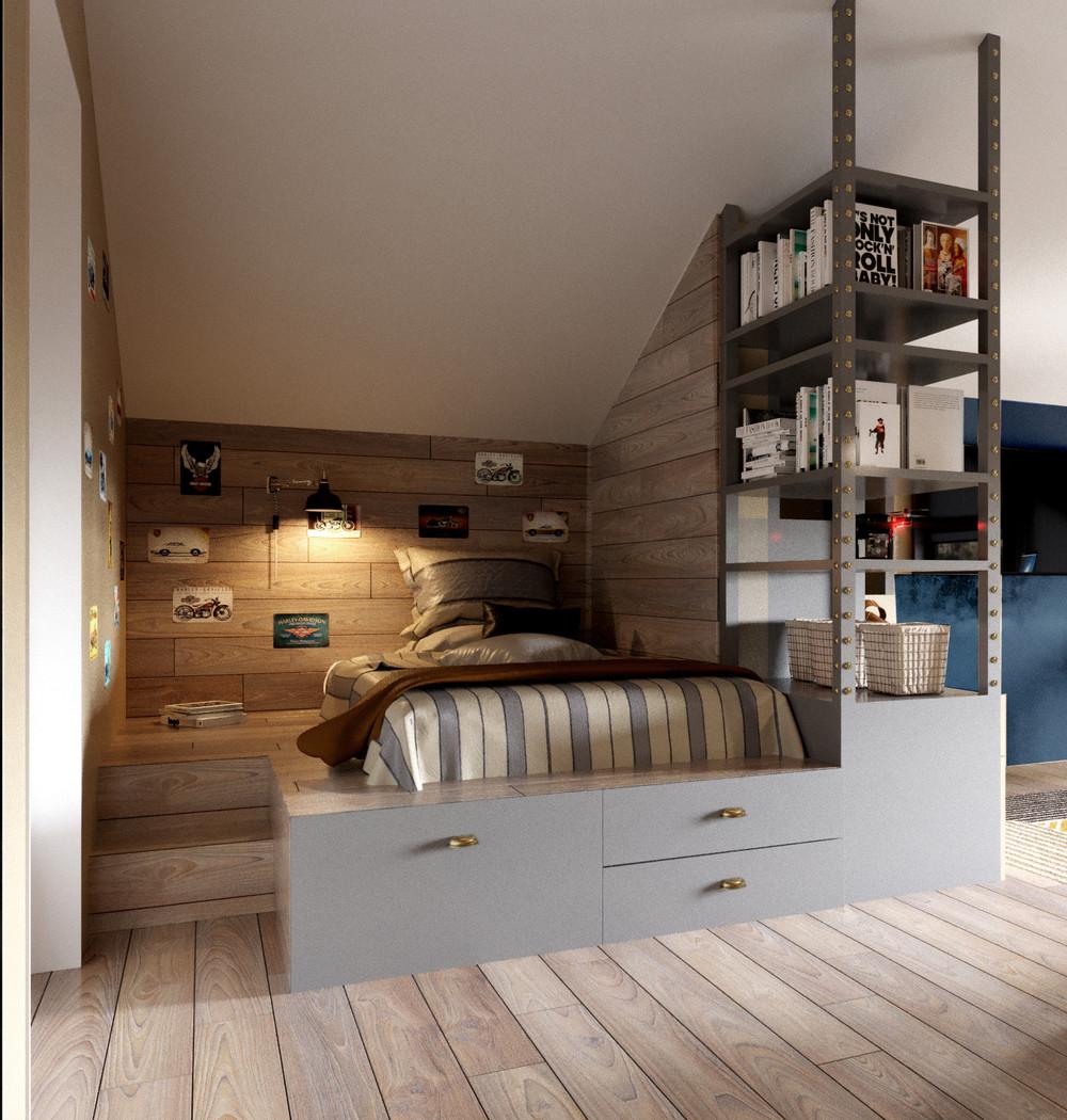 bureau estrade ordinaire lit mezzanine place bureau. Black Bedroom Furniture Sets. Home Design Ideas