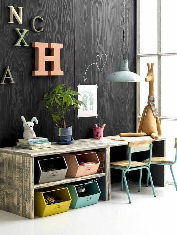 Aménager un bureau dans une chambre d\'enfant aménager un bureau dans ...