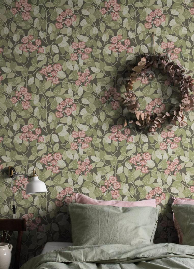 décoration avec un papier peint vintage